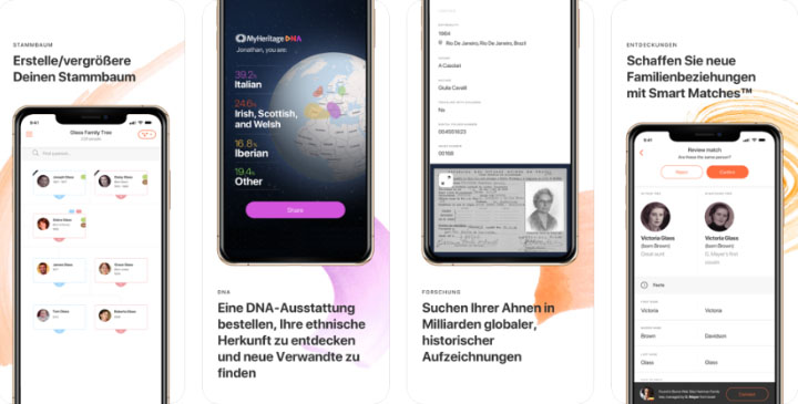 myheritage smartphone applikation