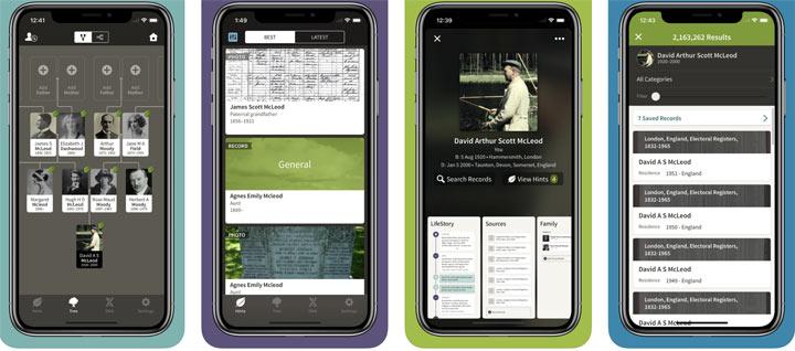 Ancestry bietet Ihnen eine mobile Anwendung