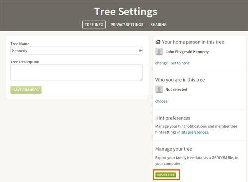 Importieren Sie diese GEDCOM-Daten in Ihren Stammbaum